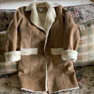Suede/fur coat